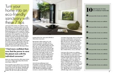magazine layout feature spread