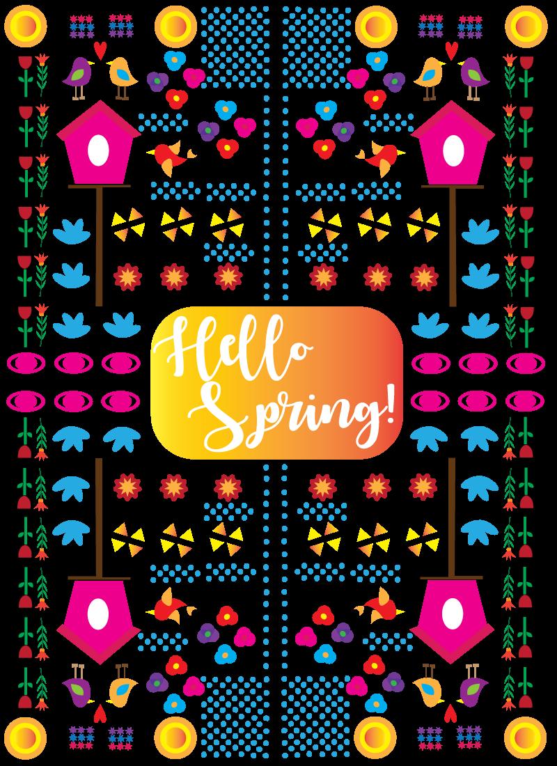spring pattern design