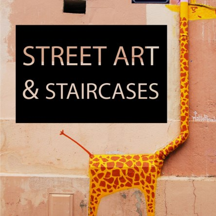 Street art and staircases