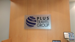 Plus Travel Group Entrance Sign